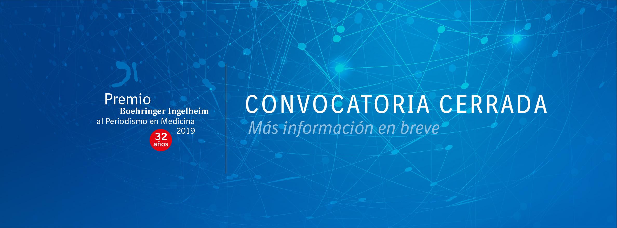 Convocatoria cerrada del Premio Boehringer Ingelheim al Periodismo en Medicina 2019