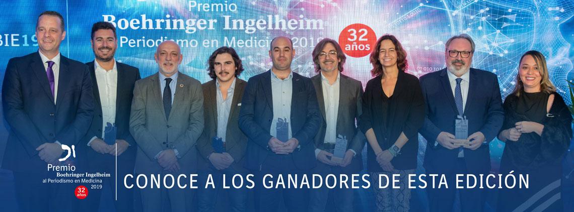 Ganadores del Premio Boehringer Ingelheim al Periodismo en Medicina 2019